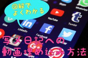 写メ日記への動画埋め込み方法