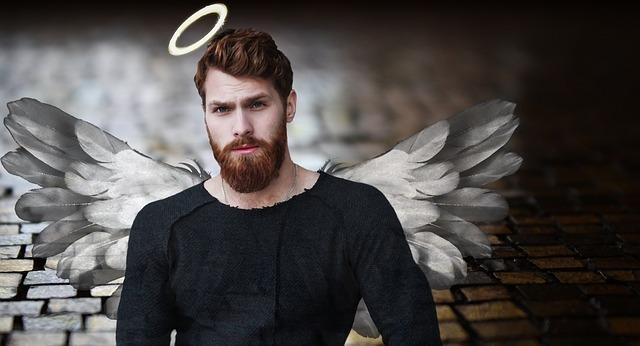 男性の天使の画像 ブラックなイメージ