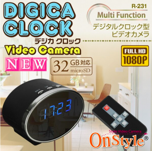 置き時計型小型カメラの画像