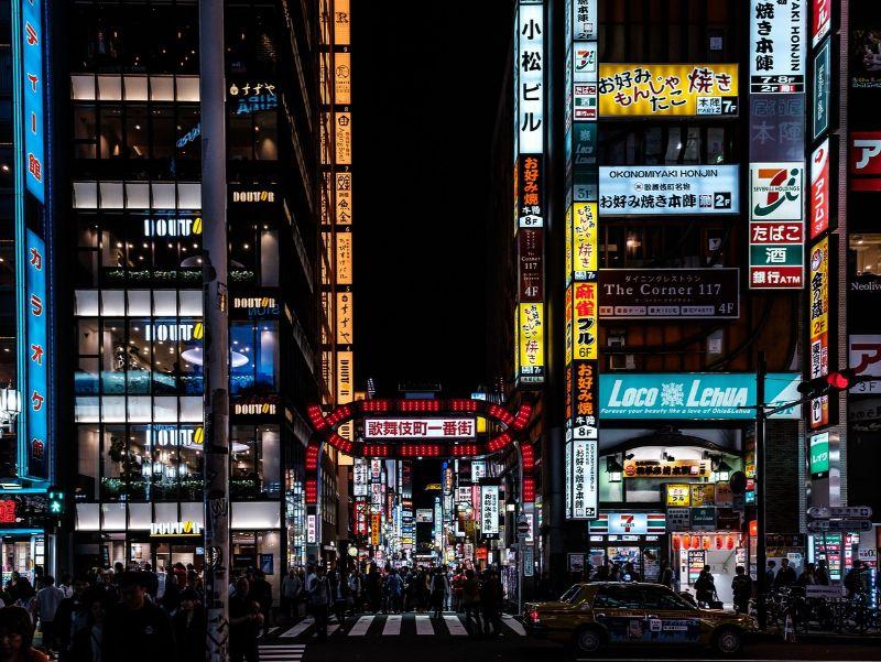 東京の歌舞伎町の様子